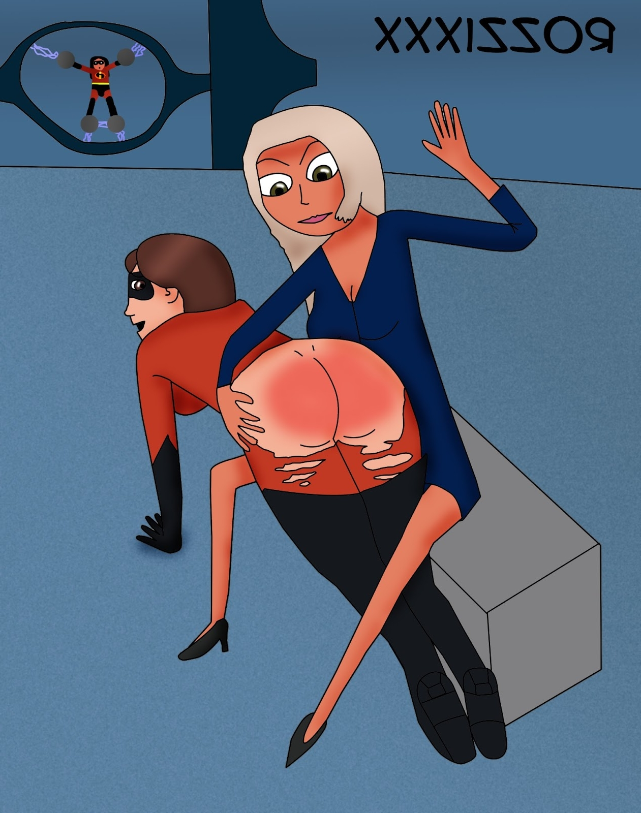 the incredibles porn spanked