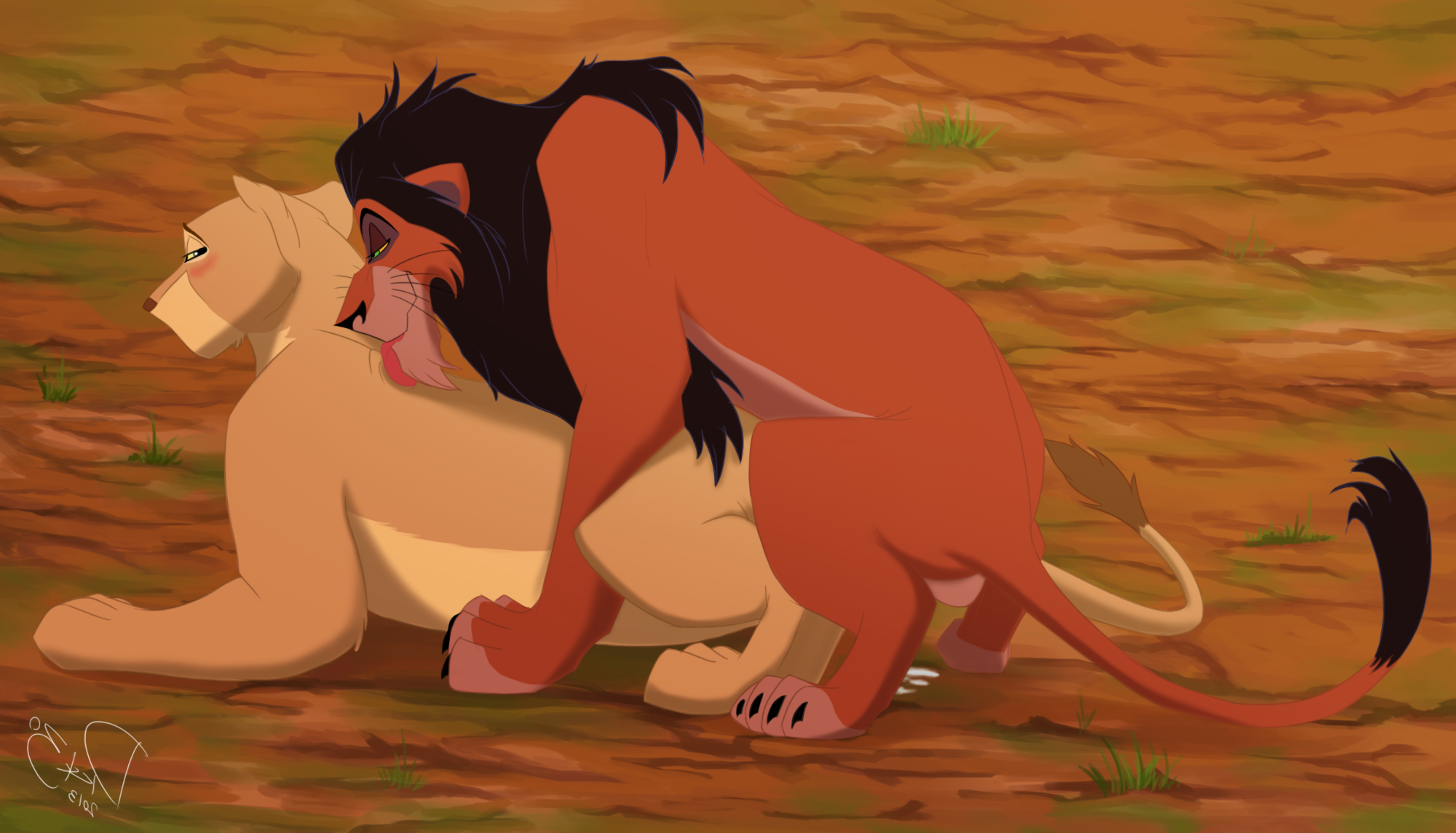 Once and The lion king xxx can