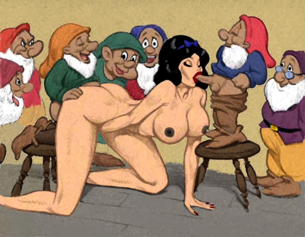 Snow white and the 7 dwarfs porno hentia clip