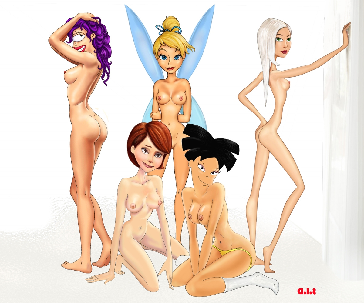 Hot naked cartoon girls and woman sex comic